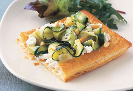 Courgette and goats cheese tart image