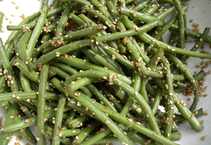 Green Beans, Garlic and Sesame